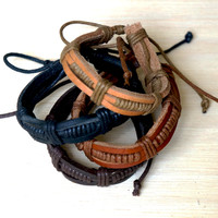 3 Layer Adjustable Leather Bracelet