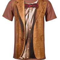 11th Doctor Costume Tee - Brown,
