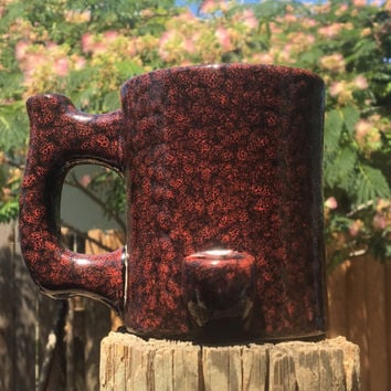 IMPERFECTS  Wake N Bake Smoking Pipe Coffee Mug IMPERFECTS Red