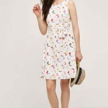 Sunday in Brooklyn Toucan Dress in White Size: