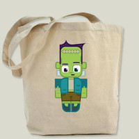 Fawn Funkie Green Frankie Monster Tote Bag by boxedspapercrafts on BoomBoomPrints