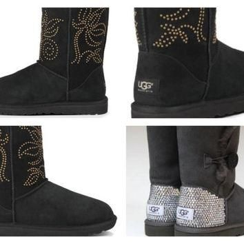 Custom UGG Boots made with Swarovskisi Adelaide Free: Shipping, Repair Kit, Cleaning K