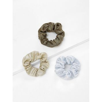 Glitter Hair Scrunchie 3pcs