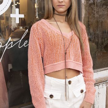 Free People High Low Crop Sweater