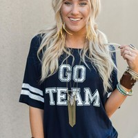 Go Team Jersey Tee - Navy