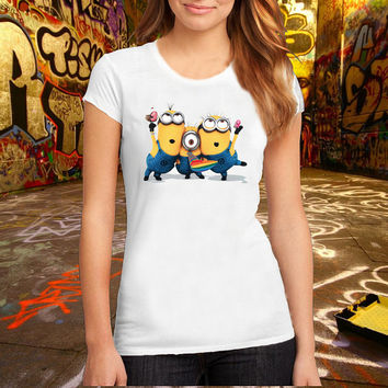 despicable_me_minions T Shirt Printed T Shirt, Women T Shirt, (Various Color Available)