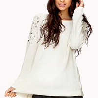 Total Stud Cable Knit Sweater