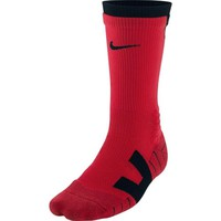 Nike Men's Elite Vapor Cushioned Football Socks, color black/ red size large