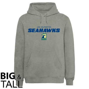UNC Wilmington Seahawks On Point Big and Tall Sweatshirt - Ash