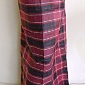 man's sarong cherry red check Pt5