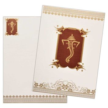 Attractive Ganesha Wedding Invite-KNK1884