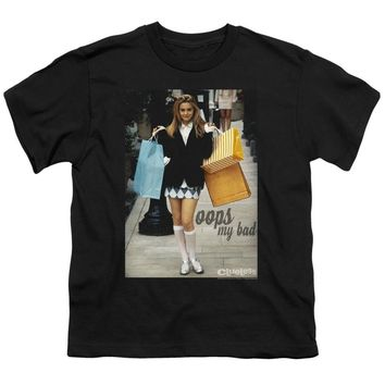 Clueless Kids T-Shirt Cher Oops My Bad Black Tee