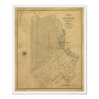 Survey of San Francisco by Michelin 1849 Print from Zazzle.com