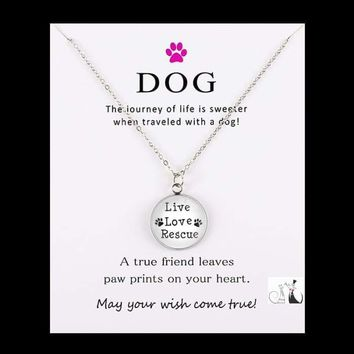 Live Love Life Rescue Necklace for Women