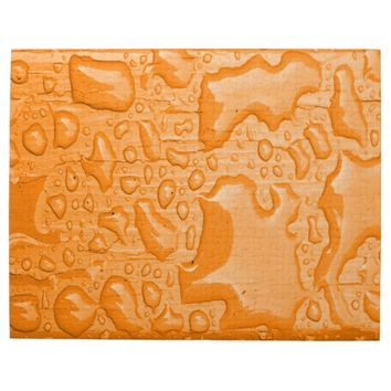 Photo of Water Droplets on Orange Painted Wood Jigsaw Puzzle