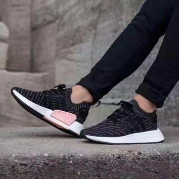 LMFUX5 Adidas NMD R2 Primeknit BB2951 Boost Sport Running Shoes Classic Casual Shoes Sneakers