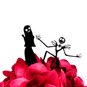 Jack and Sally Proposal Topper