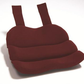 Complete Medical Obus Contoured Seat Cushion Burgundy  (Bagged)