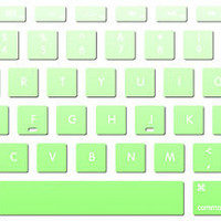 green  keyboard decal MacBook decal MacBook air sticker MacBook pro decal J-029