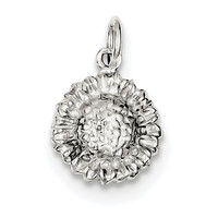 Sterling Silver Sunflower Charm QC3160