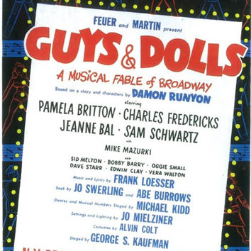 Guys and Dolls 11x17 Broadway Show Poster (1950)
