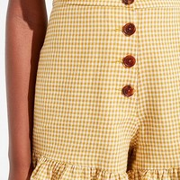 Capulet Rosie Gingham Ruffle Short | Urban Outfitters