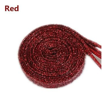 2017 Sparkly Shiny Red  Shoe Laces