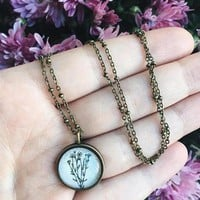 Vintage Botanical Necklace
