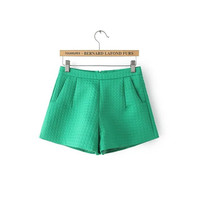 Korean Stylish Simple Design Zippers Casual Pants Shorts [6034463553]
