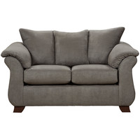 Exceptional Designs Sensations Grey Microfiber Loveseat
