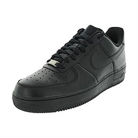 Nike Men's Air Force 1 '07 Black/Black Basketball Shoe 9.5 Men US