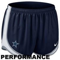 Nike Dallas Cowboys Women's Tempo Performance Running Shorts - Navy Blue