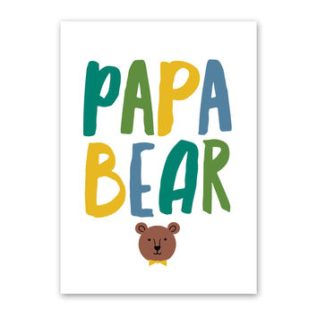 ROCK SCISSOR PAPER PAPA BEAR FATHER'S DAY CARD