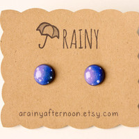 Galaxy Post Earrings