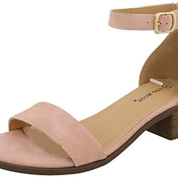 Women's Ankle Strap Open Toe Heeled Sandal