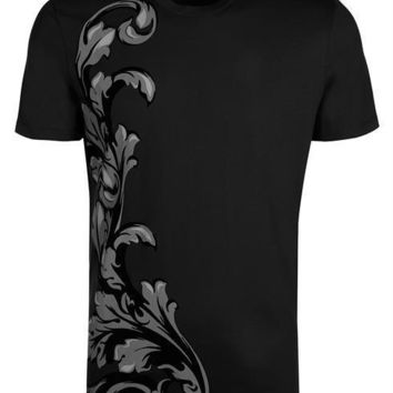VERSACE COLLECTION T-shirt V800683S VJ00293 black 100% Cotton