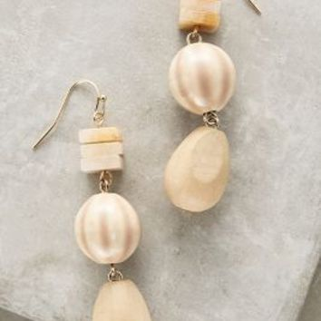 Minca Drops by Anthropologie in Ivory Size: One Size Earrings