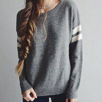 Elina 2015 Fashion womens sueter feminino brandy Melville Veena striped oversize poncho pullover pull femme knitted Sweater