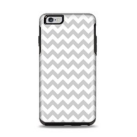 The Gray & White Chevron Pattern Apple iPhone 6 Plus Otterbox Symmetry Case Skin Set