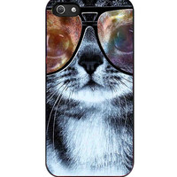 Nerd cat cat with glasses hipster cat iPhone 5s For iPhone 5/5S Case