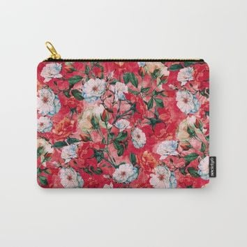 Rose Red Carry-All Pouch by RIZA PEKER