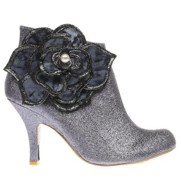 irregular choice pewter pearl necture boots