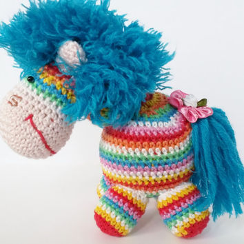 Amigurumi Rainbow Pony Toy