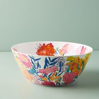 Paint + Petals Melamine Serving Bowl