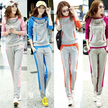 Korean Version Women's Sportswear Leisure Suit Sweater Autumn Section Sport F_F = 1902454468