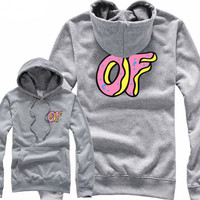 Odd Future OF Donut Grey Hoodie