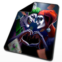Harley Quinn and The Joker for Blanket, Throw Blanket, Fleece Blanket, Custom Blanket