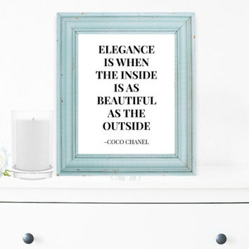 Coco Chanel Wall Art, Motivational Print, Inspirational Poster, Scandinavian Wall Decor, Teen Gift Ideas, Shabby Chic, Modern Home - PT0062