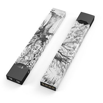 Skin Decal Kit for the Pax JUUL - Abstract Black and White WaterColor Vivid Tree