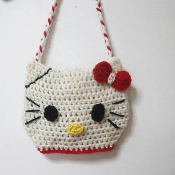 HELLO KITTY BAG Crochet pattern Pdf by CrochetPatterns1 on Etsy